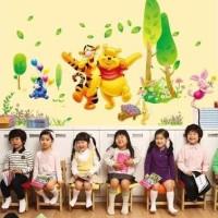 Ay876-big Pooh N Tiger: Wall Sticker Transparan 60x9