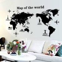 WALL STICKER/WALL STIKER TRANS 60X90-AY9133-MAP OF THE WORLD