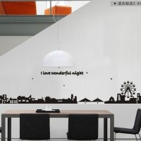 wall sticker/wall stiker trans 60x90-AY925-CITY NIGHT