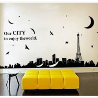 wall sticker/wall stiker trans 60x90-AY9093-OUR CITY