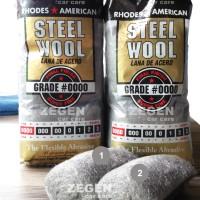 STEEL WOOL #0000 SUPER FINE GRADE RHODES AMERICAN (ECER PER 2 GULUNG)