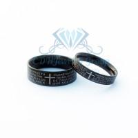 harga Cincin Couple - Black Cross Ring Tokopedia.com
