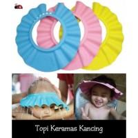 Jual topi keramas kancing melindungi si kecil dari air /topi mandi anak Murah