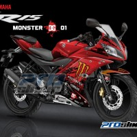 harga Jual Decal Yamaha R15 Motif Monster Dc By Prostiker.com Tokopedia.com
