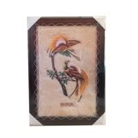 harga Kaligrafi Lukisan Burung Cendrawasih  48 x 68 Tokopedia.com