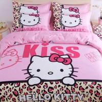 harga Sprei / Sepre Motif Kartun Hello Kitty Kiss Uk 180x200x40 + 2 Sarban Tokopedia.com