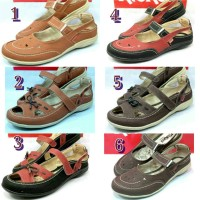 Sepatu Slop Kickers Wanita Coklat muda coklat tua hitam
