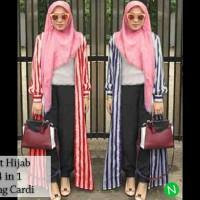 set hijab long cardi 4in1 / grosir baju hijab murah berkualitas