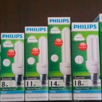 Lampu Essential Philips 5w Putih - Garansi 2th