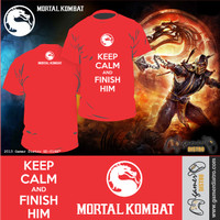 harga KAOS GAME MORTAL KOMBAT : KEEP CALM AND FINISH HIM - MERK ORIGINAL GAMERDISTRO BANDUNG - BKN KASET PC GAMES DVD PS3 XBOX Tokopedia.com