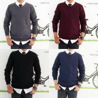 Jual Knit sweater vneck polos Murah