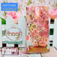 LG G3 Stylus - Softcase Custom Case Art Bunga Warna