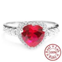 harga Cincin Perak 925 Blood Red Gem Ruby 3ct (lab Created) Tokopedia.com