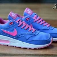 harga Sepatu Nike Women Nike Air Max 1 Blue Pink Tokopedia.com
