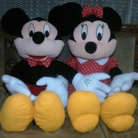 harga Boneka Mickey & Minnie Jumbo Tokopedia.com