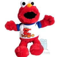 "Boneka Elmo Sesame Street T-shirt Putih 15"""