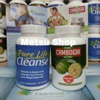 Paket Pure Cambogia Ultra & Pure Life Cleanse Set Original USA
