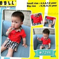 baju setelan fashion kasual anak Babalula 7244 red