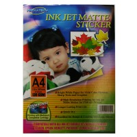 Mediatech InkJet Matte Sticker A4 20 sheets 130 GSM 5760 dpi Printer
