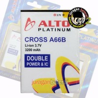 Baterai / Battery ALTO EVERCOSS A66B, 3200mAh Double Power