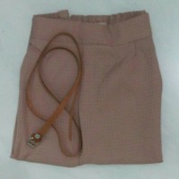Jogger pant darkpink high quality free belt