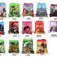 Tas Ransel Kartun Mickey, Spiderman, Frozen, Angry Bird, Dora, dll
