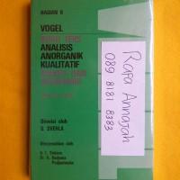 harga Vogel - Buku Teks Analisis Anorganik Kualitatif Makro dan Semimikro Tokopedia.com