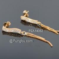 Anting emas tusuk juntai PZA14082