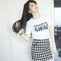 "Tumblr Tee / T-shirt / Kaos ""Pardon My Swag"" in Black & White"