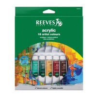 Reeves 18 Acrylic Color Set