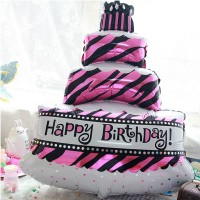 Balon Foil Kue Happy Birthday / Cake Ulang Tahun