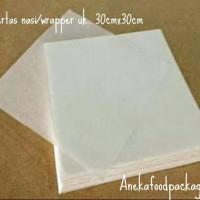 Kertas nasi/wrapper ala KFC uk. 30cmx30cm