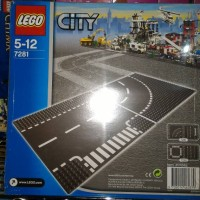 LEGO Base Plate City 7281 T Junction & Curved Road Plate
