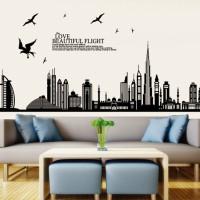 JM7280-DUBAI CITY: WALL STICKER/ WALLSTICKER 60X9