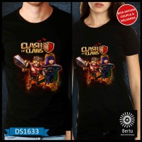 Toko T-Shirt Baju Barbarian king & Archer Queen clash of the clans
