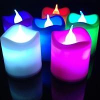 Lilin Elektri Kecil Mini NYALA 7 WARNA NATAL CHRISTMAS ULANG TAHUN Lam