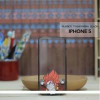 Casing HP Custom Rubber Transparan Black Iphone 5 Super Saiya 4