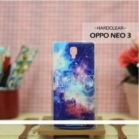 Casing HP Custom Hardclear Oppo Neo 3 Galaxy & Stars