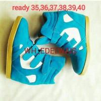 harga Sepatu Wanita (sneaker Wedges,wedges Dalam Blue Mix White) Tokopedia.com