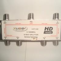 Splitter 6 Way untuk TV Kabel Kaonsat CATV-6W (Frekuensi 5-1000 MHZ)