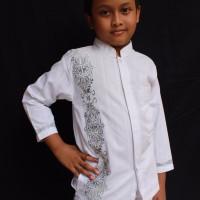 Koko/ Baju koko/ Baju Koko Anak/ Baju muslim/koko putih/lengan panjang