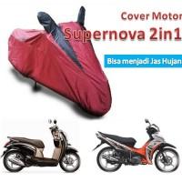 Jual Cover Motor Dual Fungsi (Bisa Sebagai Jas Hujan) Buat Motor Bebek dan Matik Murah