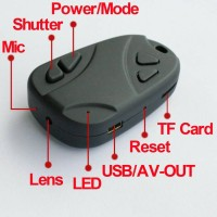 Spy Cam /Car Key /Black Remote Mobil