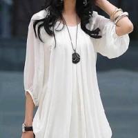 Dress Wanita Baju Wanita Kantoran Busana Wanita Bahan Sifon S - XL