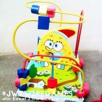 Mainan Kayu Alur Kawat 3 Spongebob (wire game