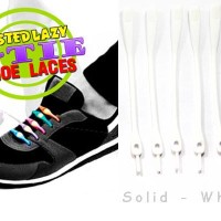 V-Tie Shoelaces - Tali Sepatu Silikon / Silicon - Solid White