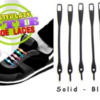 V-Tie Shoelaces - Tali Sepatu Silikon / Silicon - Solid Black