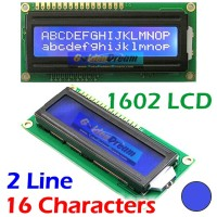 Jual LCD Display 1602 Background Biru Blue Tulisan Putih 16x2 Character Murah