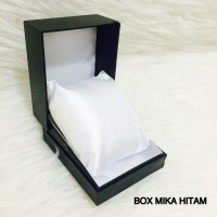 BOX KOTAK JAM TANGAN PRIA WANITA HITAM BANTAL UKURAN STANDART