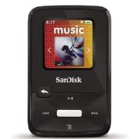 SanDisk Sansa Clip Zip 8GB MP3 Player, Black With Full-Color Display